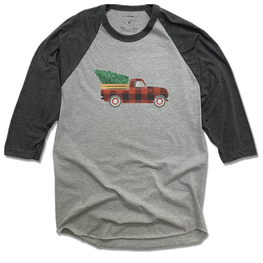 ROOTED YOGA | GRAY 3/4 SLEEVE | PLAID TRUCK
