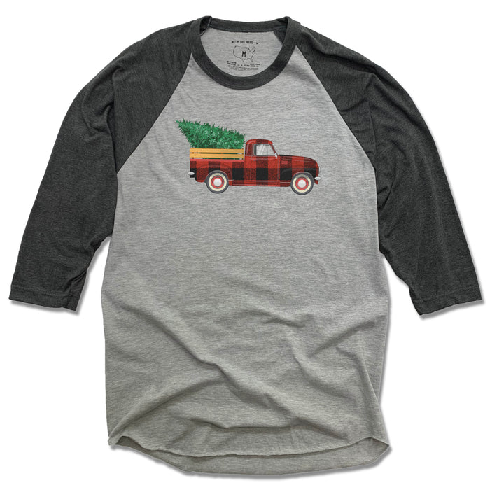 HOLIDAY TRUCK | 3/4 SLEEVE | PLAID