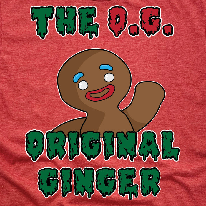 O.G. | UNISEX RED TEE | GINGERBREAD MAN