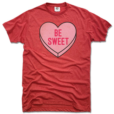 CANDY HEART | UNISEX RED TEE | BE SWEET
