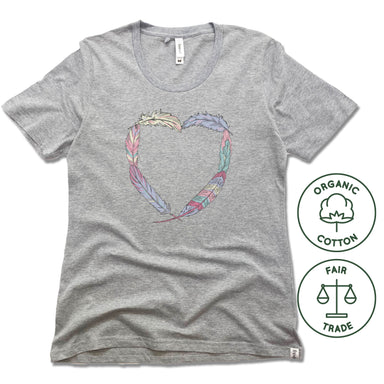 HEART | FREESET LADIES TEE | BOHO FEATHERS