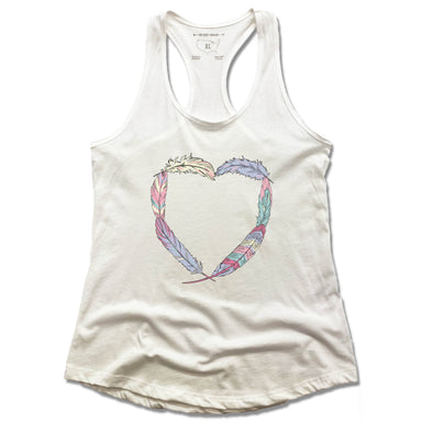 HEART | LADIES TANK | BOHO FEATHERS