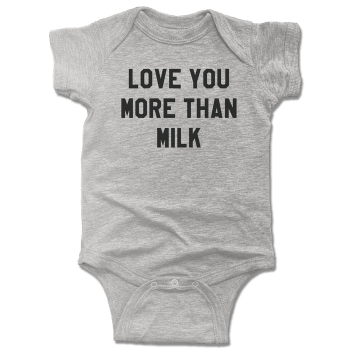 LOVE YOU MORE | GRAY ONESIE | THAN MILK