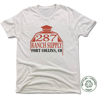 287 RANCH SUPPLY & BOUTIQUE | UNISEX WHITE Recycled Tri-Blend | LOGO