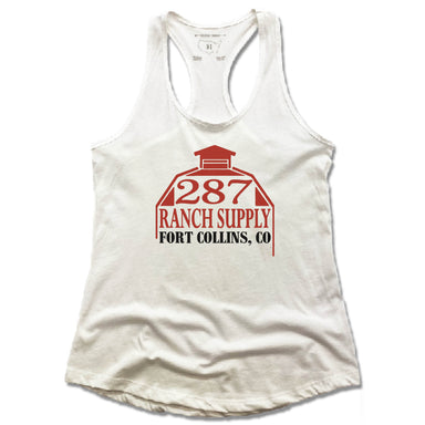 287 RANCH SUPPLY & BOUTIQUE | LADIES WHITE TANK | LOGO