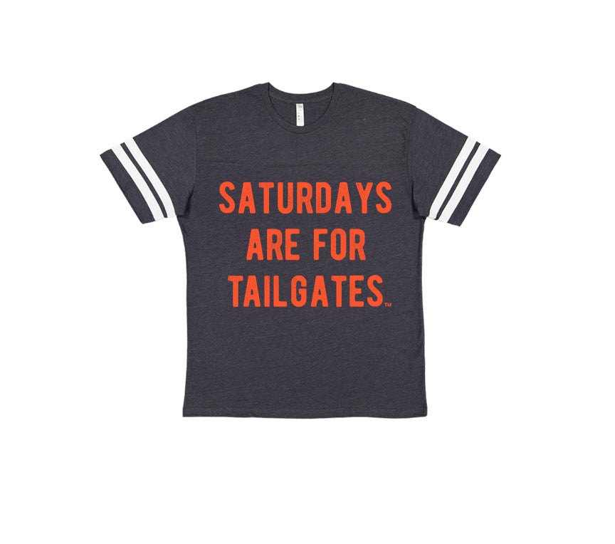 FOOTBALL | NAVY KIDS' TEE | SATURDAYS ARE FOR TAILGATES | ORANGE