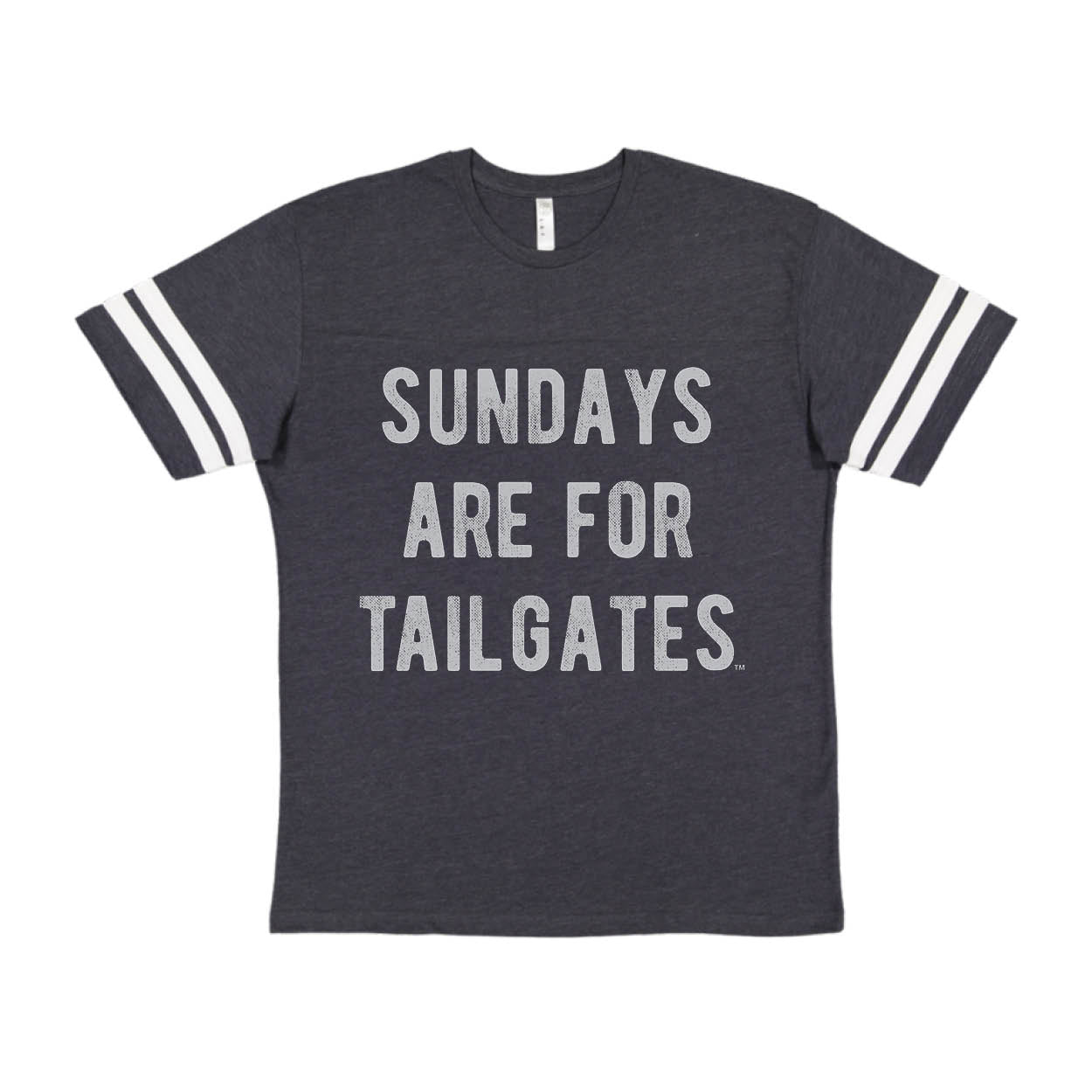 FOOTBALL |  NAVY KIDS TEE | SUNDAYS ARE FOR TAILGATES | GRAY