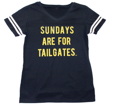 FOOTBALL | BLACK LADIES' TEE | SUNDAYS ARE FOR TAILGATES | YELLOW