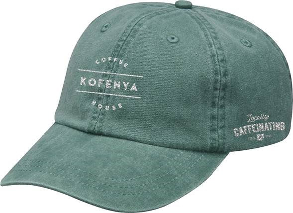 KOFENYA COFFEE | EMBROIDERED FRST GREEN HAT | WHITE LOGO