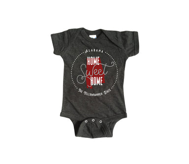 ALABAMA ONESIE | HOME SWEET HOME | CRIMSON/GRAY