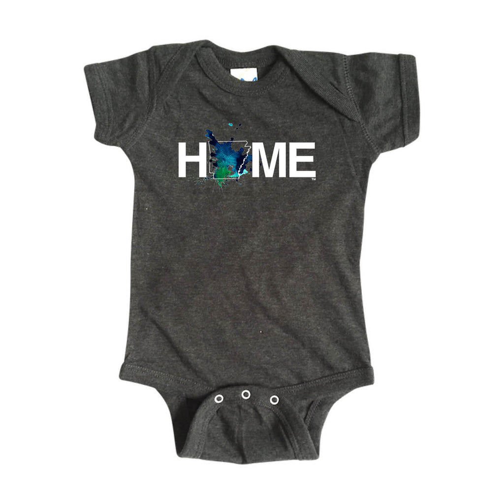 ARKANSAS ONESIE | HOME | PAINTED BLUE/GREEN