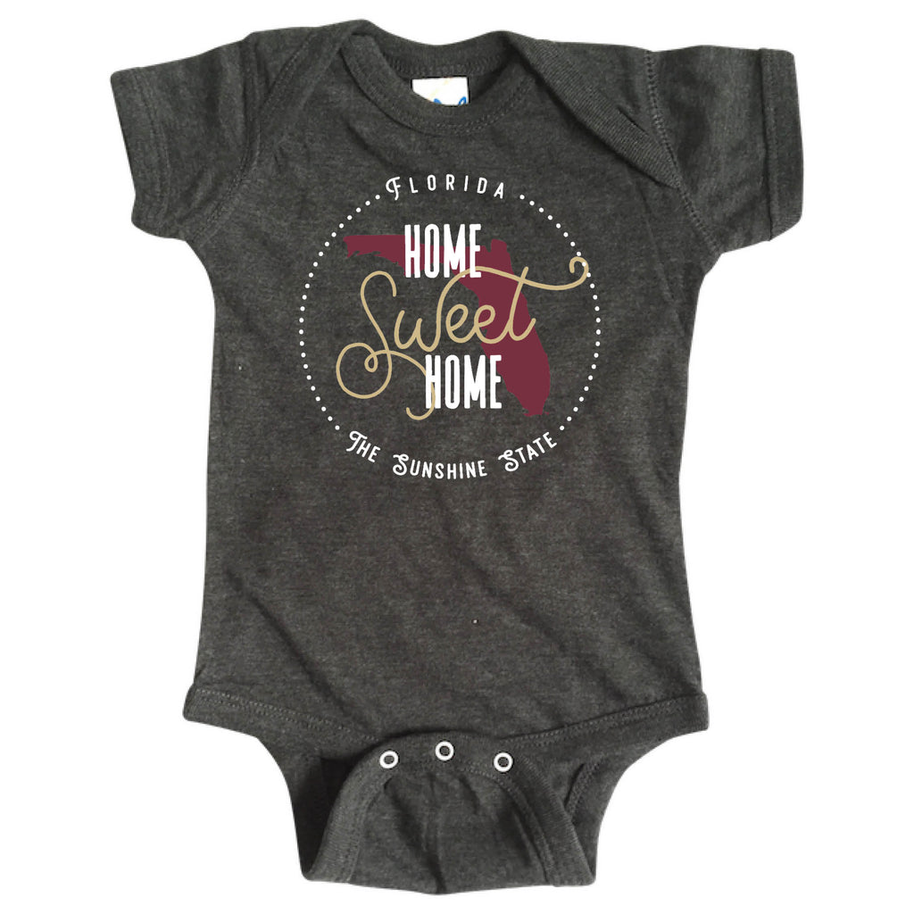 FLORIDA ONESIE | HOME SWEET HOME | GARNET/GOLD
