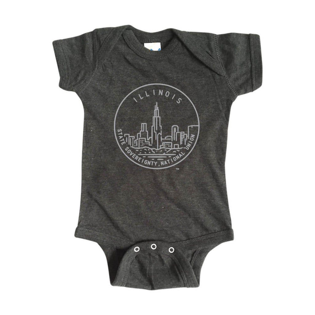 ILLINOIS ONESIE | STATE SEAL |  STATE SOVEREIGNTY, NATIONAL UNION