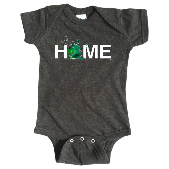 MICHIGAN ONESIE | HOME | PAINTED BLUE/GREEN