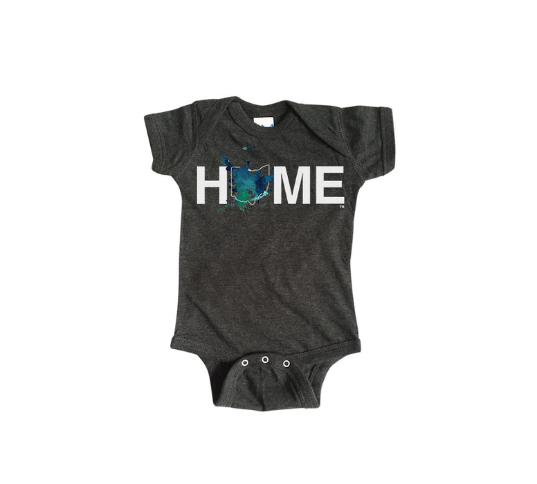 OHIO ONESIE | HOME | PAINTED BLUE/GREEN