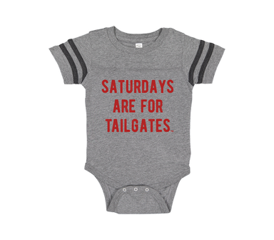 FOOTBALL | GRANITE ONESIE | SATURDAYS ARE FOR TAILGATES | RED