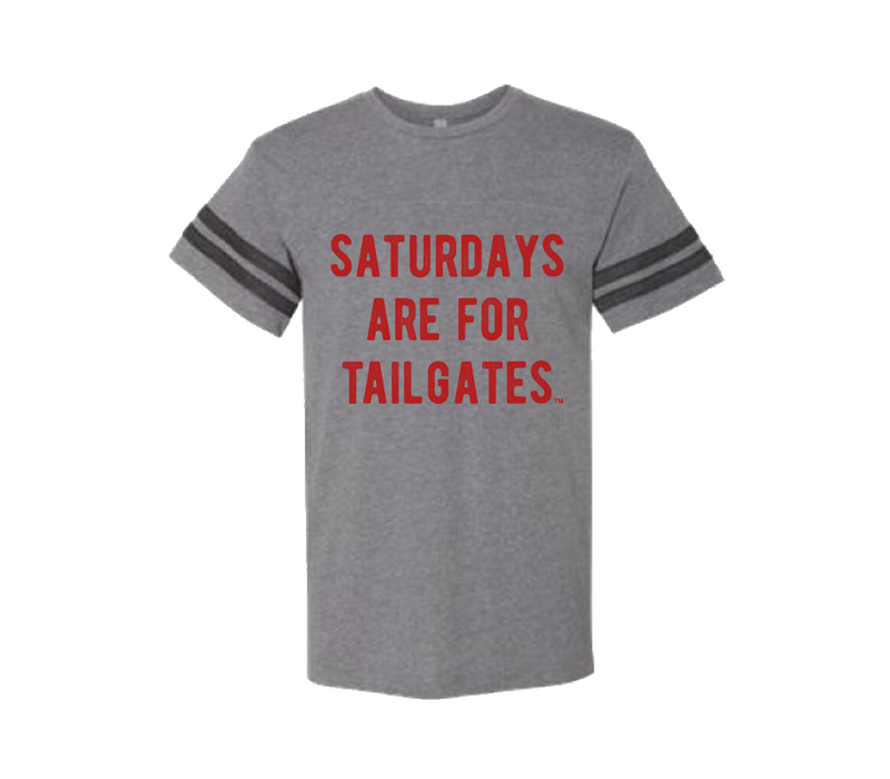 FOOTBALL | GRANITE UNISEX TEE | SATURDAYS ARE FOR TAILGATES | RED