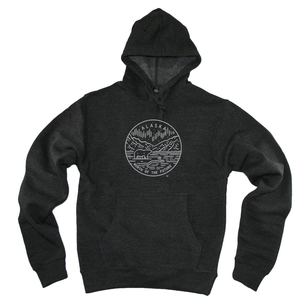 ALASKA HOODIE | STATE SEAL |  NORTH OF THE FUTURE