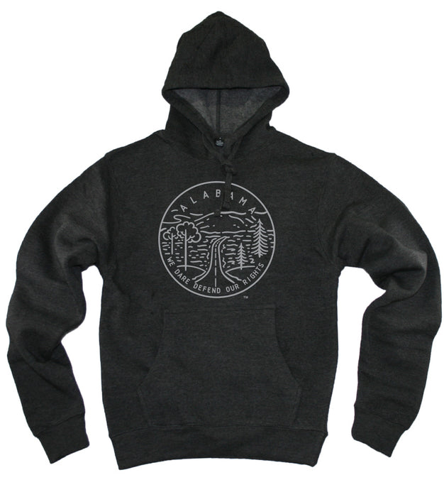 ALABAMA HOODIE | STATE SEAL |  WE DARE DEFEND OUR RIGHTS