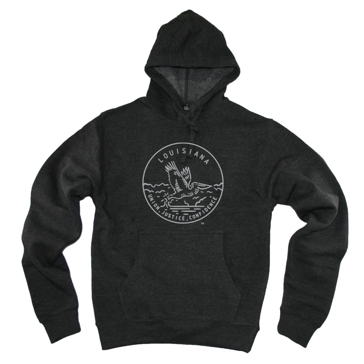 LOUISIANA HOODIE | STATE SEAL | UNION, JUSTICE, CONFIDENCE