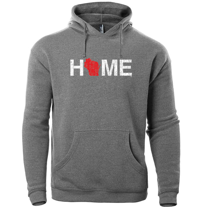 WISCONSIN LIGHT GRAY HOODIE | HOME | RED