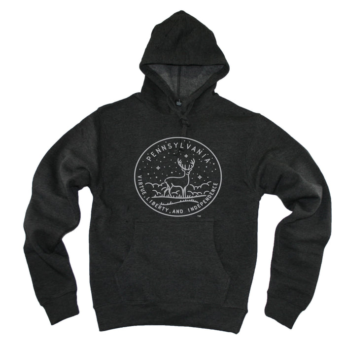 PENNSYLVANIA HOODIE | STATE SEAL | VIRTUE, LIBERY, AND INDEPENDENCE
