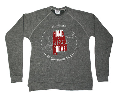 ALABAMA SWEATSHIRT | HOME SWEET HOME | CRIMSON/GRAY
