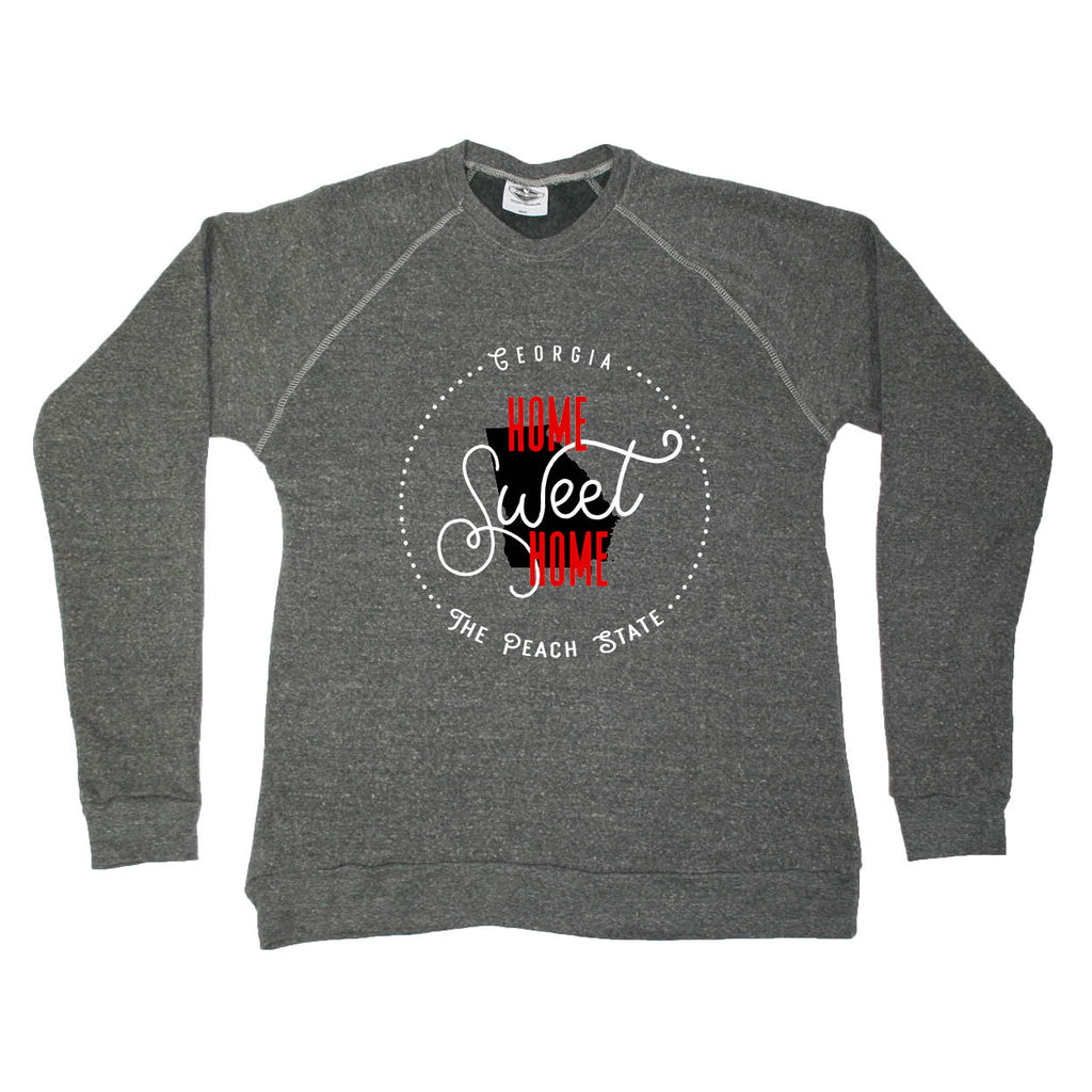 GEORGIA SWEATSHIRT | HOME SWEET HOME | BLACK/RED