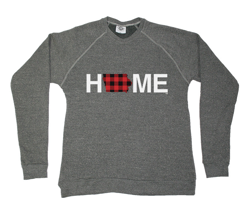 IOWA SWEATSHIRT | HOME | PLAID