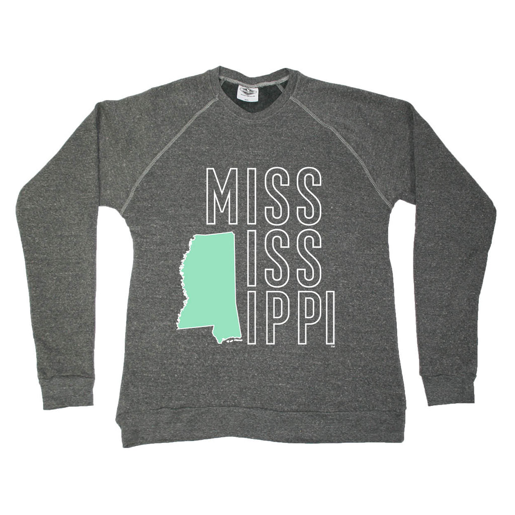MISSISSIPPI SWEATSHIRT | STACKED | LETTERS