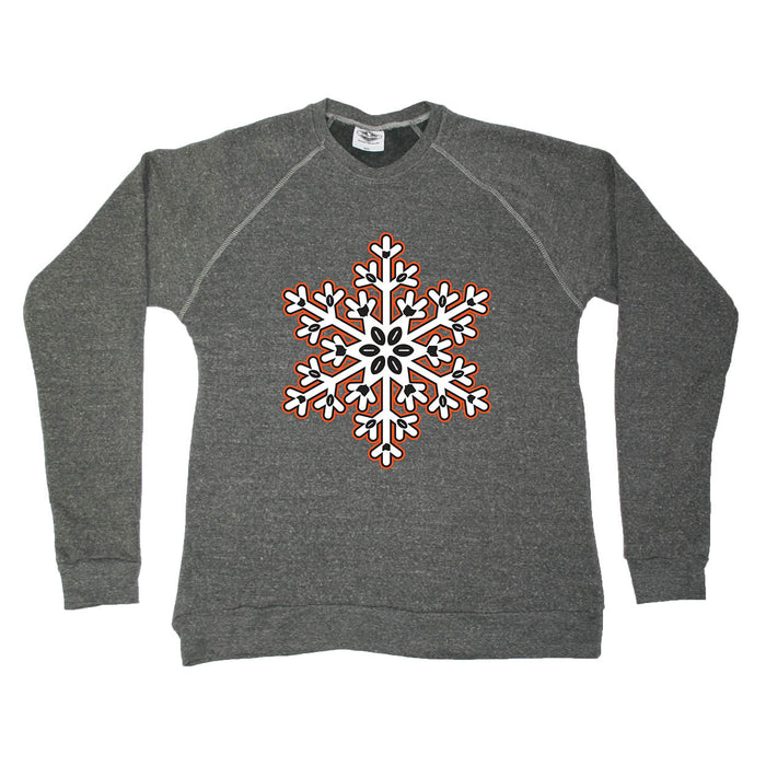 OHIO SWEATSHIRT | SNOWFLAKE | ORANGE/BLACK