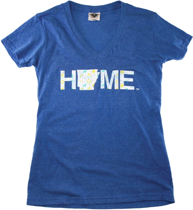 ARKANSAS BLUE LADIES V-NECK | HOME | NORTHERN PATTERN