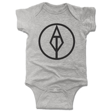 AIM TRUE YOGA | GRAY ONESIE | BLACK LOGO