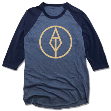 AIM TRUE YOGA | DENIM/NAVY 3/4 SLEEVE | GOLD LOGO