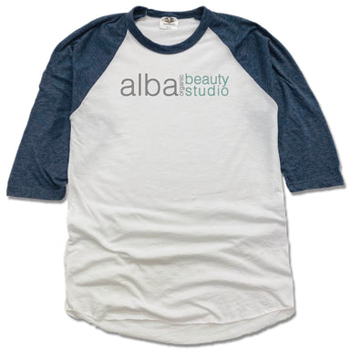 ALBA ORGANIC BEAUTY STUDIO | NAVY 3/4 SLEEVE | LOGO