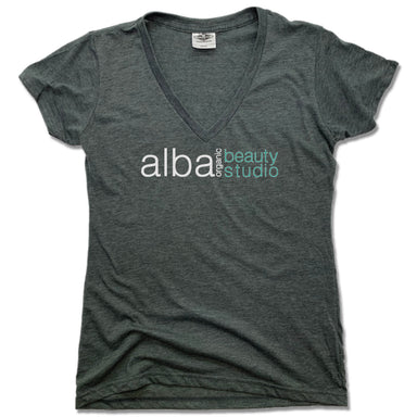 ALBA ORGANIC BEAUTY STUDIO | LADIES V-NECK | LOGO