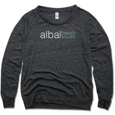 ALBA ORGANIC BEAUTY STUDIO | LADIES SLOUCHY | LOGO