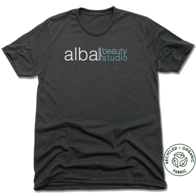 ALBA ORGANIC BEAUTY STUDIO | UNISEX BLACK Recycled Tri-Blend | LOGO