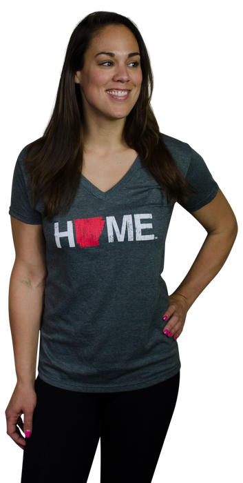 Ladies' Arkansas V-Neck | Red