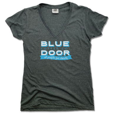BLUE DOOR COFFEE CO. | LADIES V-NECK | LOGO