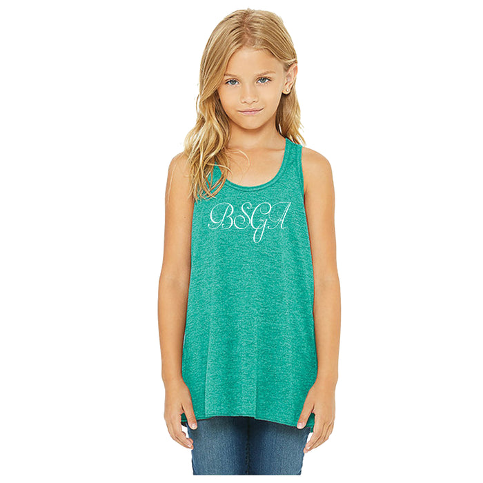 BRIGHT STARS GYMNASTICS ACADEMY | YOUTH TEAL FLOWY TANK | BSGA