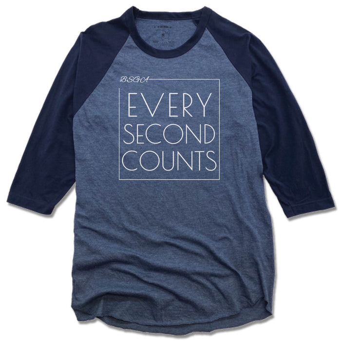 BRIGHT STARS GYMNASTICS ACADEMY | DENIM/NAVY 3/4 SLEEVE | EVERY SECOND COUNTS