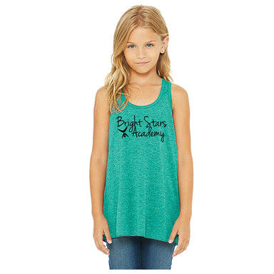BRIGHT STARS GYMNASTICS ACADEMY | YOUTH TEAL FLOWY TANK | BRIGHT STARS ACADEMY