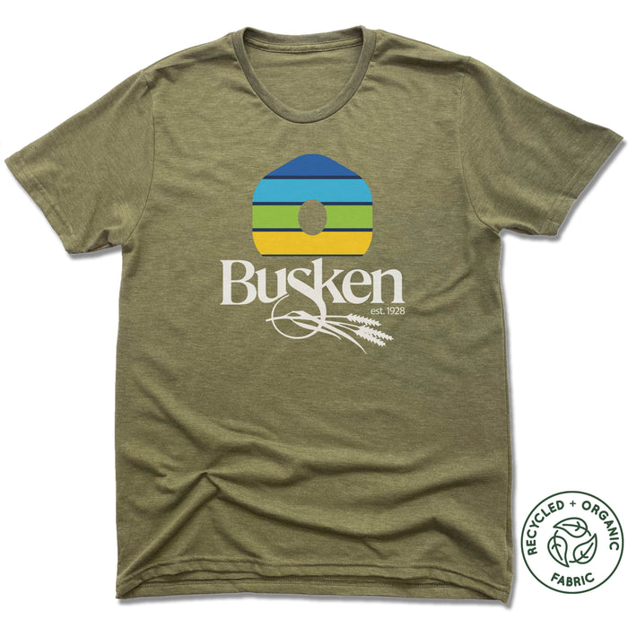 BUSKEN BAKERY | UNISEX OLIVE Recycled Tri-Blend | DOUGH RISE