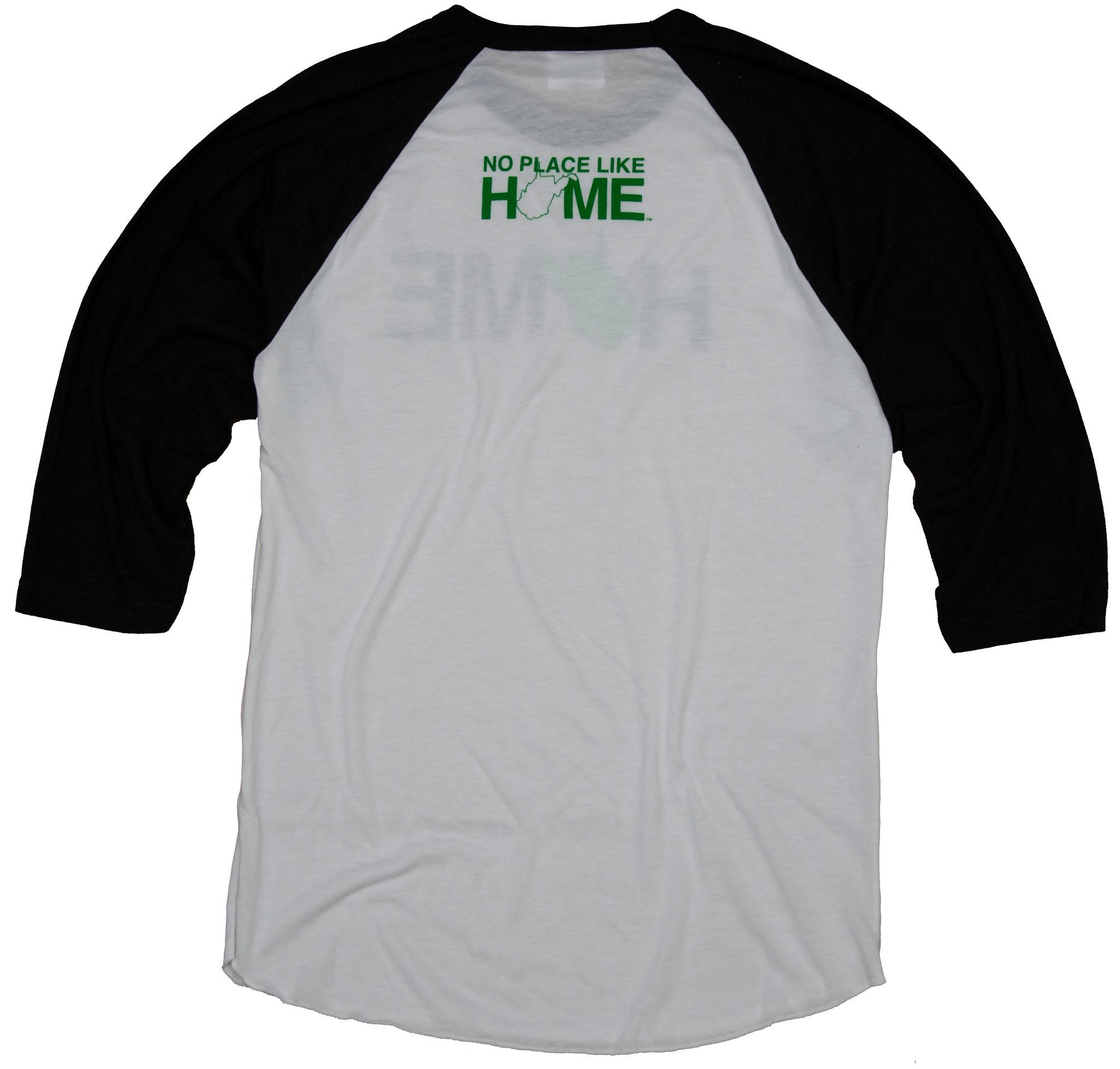 West Virginia 3/4 Sleeve | Green/White