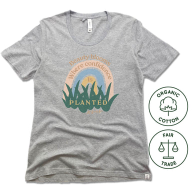AV Beauty Bar | FAIRTRADE FREESET LADIES TEE | BEAUTY BLOOMS