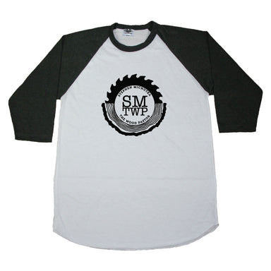 The Wood Pastor Soft Raglan - Unisex with Black Logo