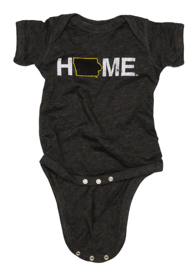 Iowa Onesie | Black/Gold