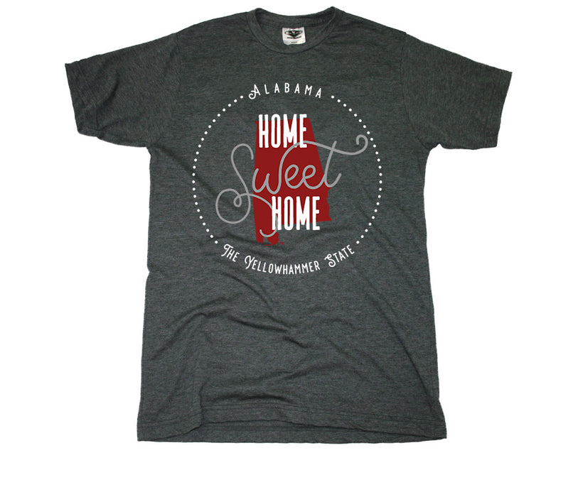 ALABAMA TEE | HOME SWEET HOME | CRIMSON/GRAY