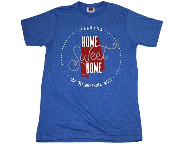 ALABAMA BLUE TEE | HOME SWEET HOME | CRIMSON/GRAY